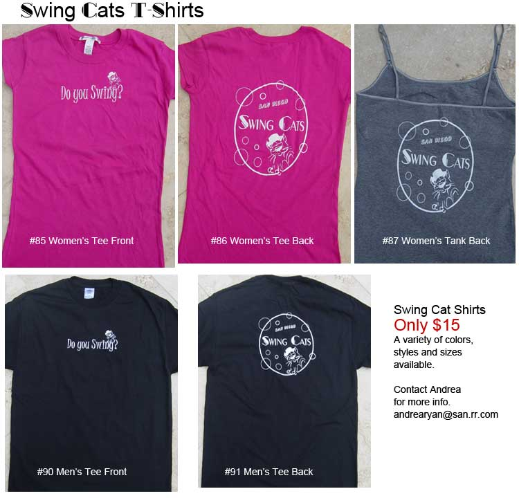 Swing Cats t-shirts